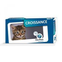 Pet-Phos - Compléments alimentaires Croissance pour chats Boîte de 24 Comprimés 195 mg