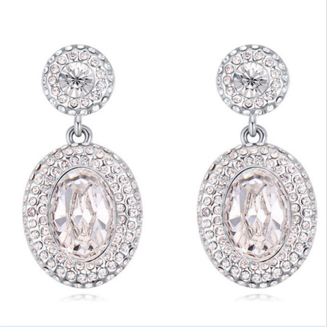 Boucles doreilles pendantes en argent sterling pour femme