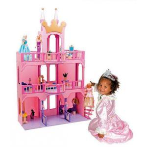 no name superbe maison ch teau de poup es 2 tages hauteur 135 cm livr avec 15 meubles. Black Bedroom Furniture Sets. Home Design Ideas
