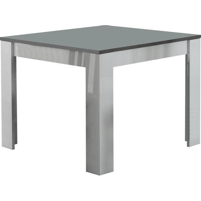 COMFORIUM - Table à manger carrée laquée brillante coloris blanc et ...