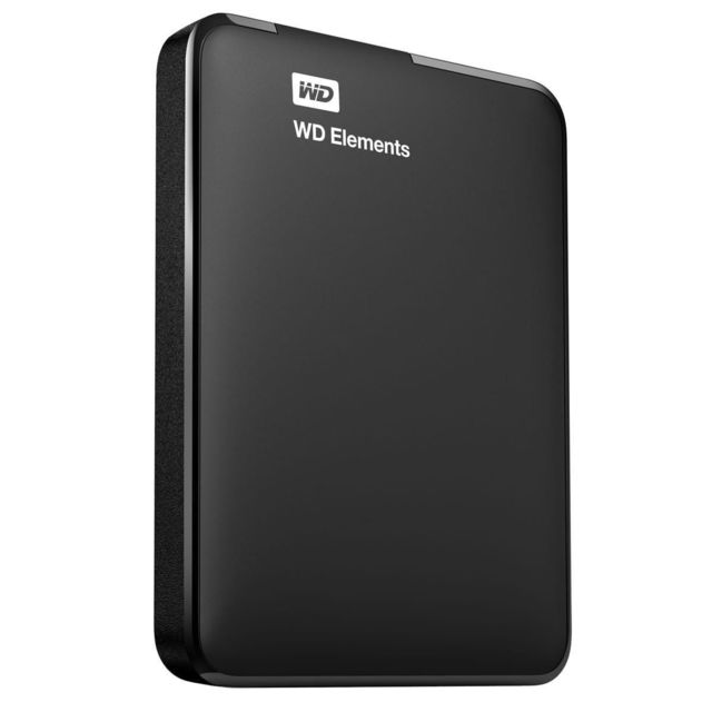 """WD ELEMENTS 2 To 2.5"""" USB 3.0 Noir LeWestern Digital Elements Portable 2ToUSB 3.0est un disque dur portable, simple et de grande qualité qui est léger et facile à porter. Il suffit de le brancher à"""