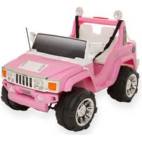 4x4 voiture électrique enfant rose 2 places avec coffre 12V
