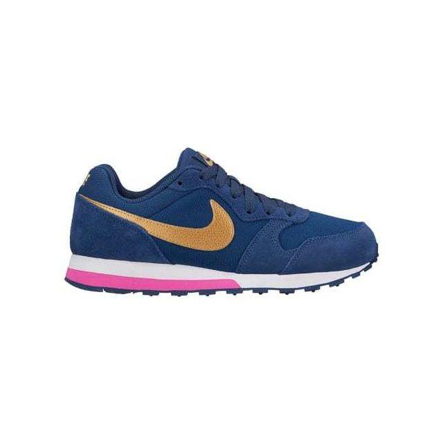 Nike Chaussures Md Runner 2 Gs bleu doré rose enfant Multicolour
