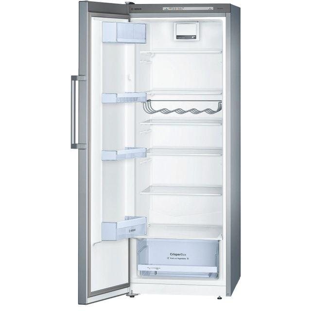 Bosch - réfrigérateur 1 porte 60cm 290l a++ brassé silver - ksv29vl30