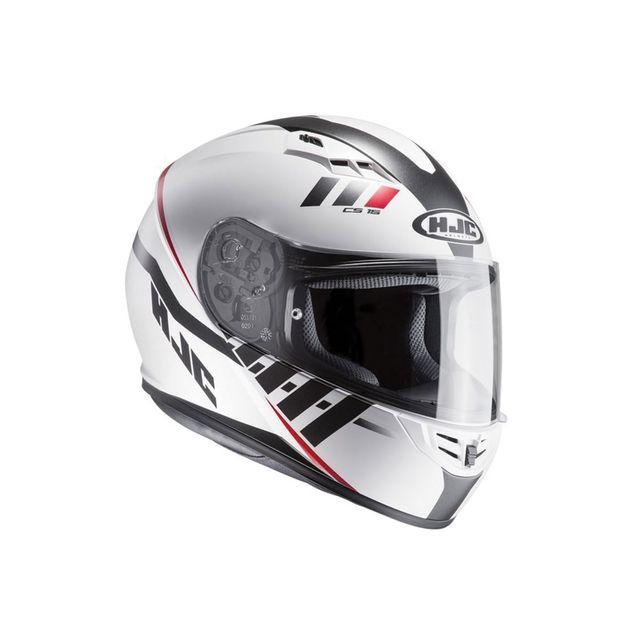 Rouge//Noir Casque moto HJC CS 15 FAREN MC1SF XS