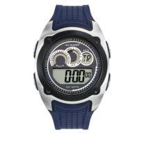 All Blacks - Montre Homme Chrono Silicone Bleu 680282 Sport - 100 Mètres