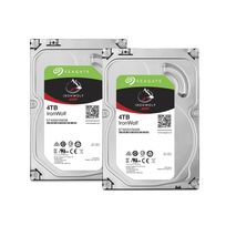 Lot de 2 disques durs interne ironwolf 4 to 3.5 '' 5900 rpm 64 mo serial ata 6 gb/s pour nas