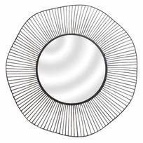 Emde - Miroir filaire rond en métal noir D.75cm Wire
