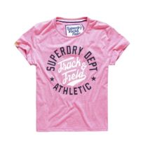 Superdry - T-shirt Trackster Pink Sorbet Snowy