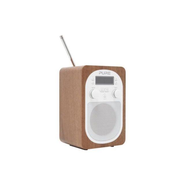 Pure Radio numérique Evoke H2 Walnut Antenne télescopique : Oui Détail : Utilisation: Radio de table, Ecran, Horloge, Réveil: Radio / Buzzer, Antenne télescopique, Couleur: Noyer Utilisation : Radio de table Autres : Antenne ...
