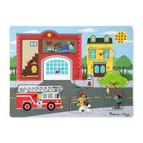 MELISSA AND DOUG - Puzzle son 8 pièces pompier