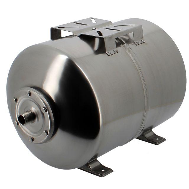 GT MARKET Réservoir pression à vessie horizontal en inox - 24 litres