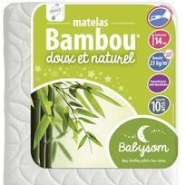 Babysom - Matelas bébé Bambou 60 x 120x14 60 x 120x14 - Déhoussable