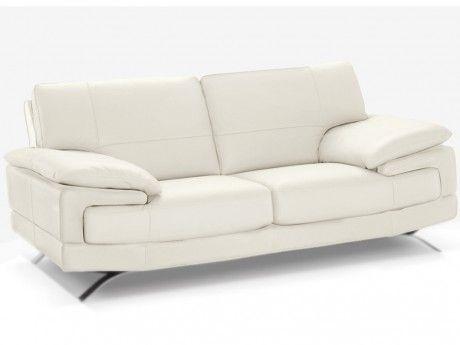 Linea Sofa Canapé 2 places cuir luxe italien Emotion - Ivoire