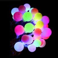Feerie Lights - Guirlande de noël lumineuse Perles - 2,90 m - Multicolore