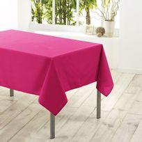 Eminza - Cdaffaires Nappe rectangle 140 x 250 cm polyester uni essentiel Fuchsia
