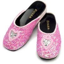 Souza for Kids - 1303 - DÉGUISEMENT - PailletÉS Chaussures Darling Avec Coeur - Rose - Ms Taille 33-34