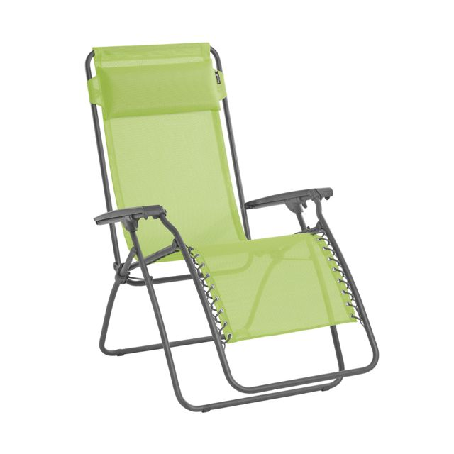 chaises longues jardin relax lafuma blanches