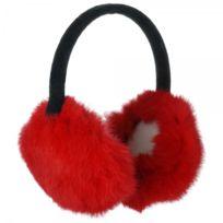 La Chaise Longue - Protège-oreilles en fourrure rouge