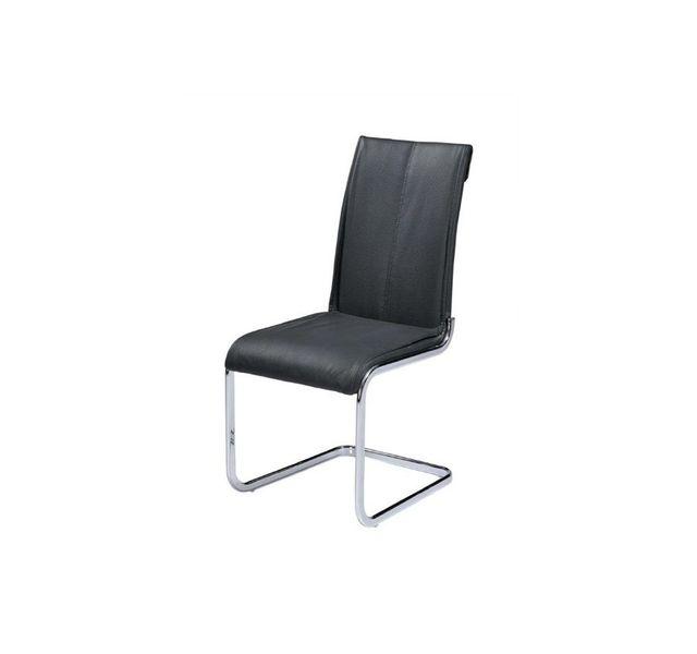 CHLOE DESIGN Chaises design poeiti - noir - Par 2