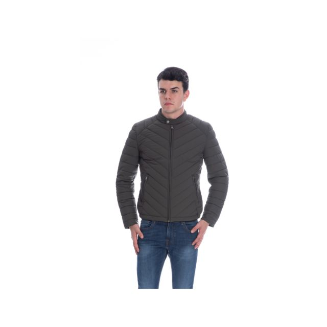 Guess Doudoune Homme Super Fitted M84L05 Gris Taille