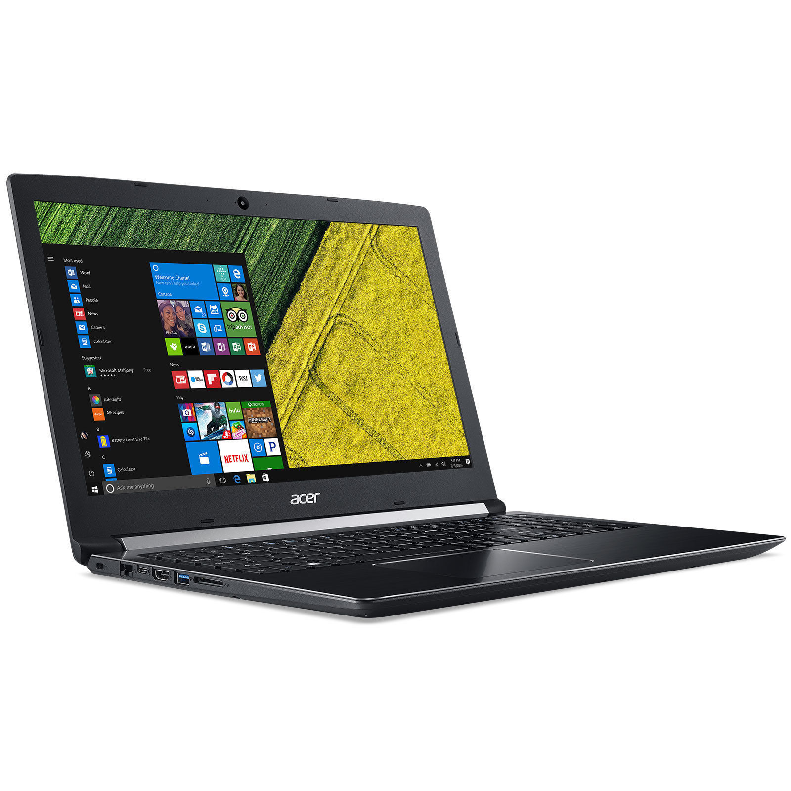 Aspire 5- Intel Core i3-6006U - RAM 4 Go - HDD 1 To - Ecran 15.6'' Full HD NVIDIA GeForce 940MX - Windows 10 Famille 64 bits