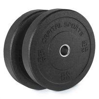 CAPITAL SPORTS - Renit Hi Temp Disques pour haltères 50,4 mm 2x15kg