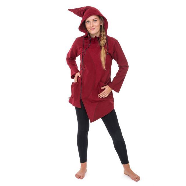 Fantazia Veste ethnique manteau asymetrique capuc