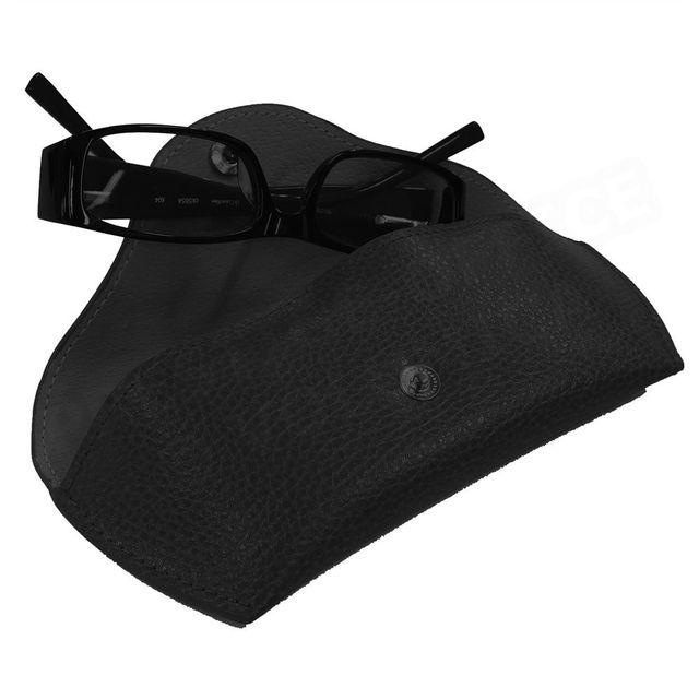 Volumica - Etui lunettes rigide cuir Noir Beaubourg - pas cher Achat ... 23efe7e4852e