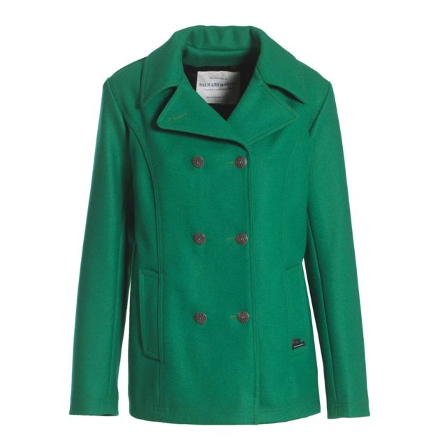 20bbce3398 Dalmard Marine - Caban marin laine made in France Couleur - vert, Taille.