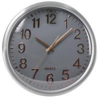 Horloge Murale Silencieuse Design - cadran gris
