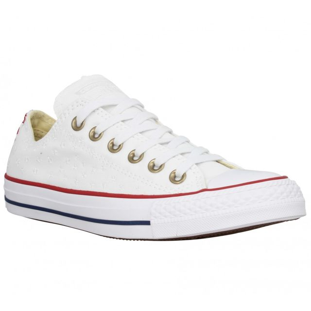 Chuck Femme Converse Taylor 40 All Brodee Blanc Star Pas Toile 4A3jRq5L