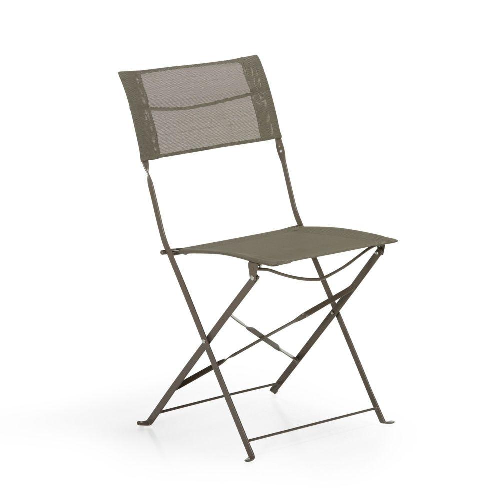 alin a texto chaise de jardin pliante taupe en textil ne pas cher achat vente chaises de. Black Bedroom Furniture Sets. Home Design Ideas