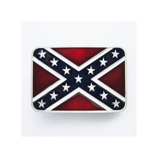 c71c1249bd2a Universel - Boucle de ceinture drapeau rebel sudiste redneck confédéré
