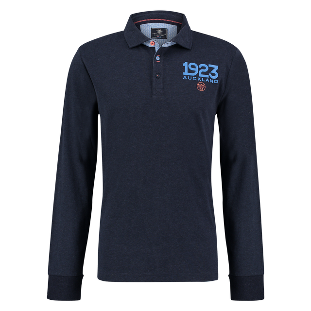 5bf6c472ef New Zealand Auckland - Polo de rugby manches longues marine - pas ...