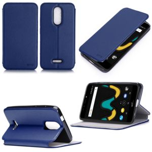 Xeptio etui wiko upulse lite 4g bleu luxe ultra slim for Housse wiko upulse lite