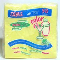 Tersol - Serviettes papier x 50 de 33x33 cm Jaune Paille