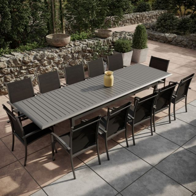 table de jardin alu textilene