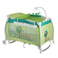 Lorelli - Lit parapluie bébé pliant Ilounge + bascule Vert