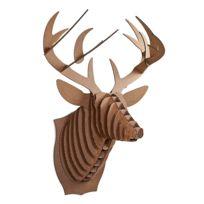 Cardboard Safari - Tête de Cerf en Carton Recyclé - Taille L