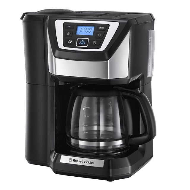 russell hobbs cafeti re programmable 12 tasses 1025w avec broyeur 22000 56 achat cafeti re. Black Bedroom Furniture Sets. Home Design Ideas