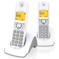 ALCATEL - Téléphone Fixe Sans fil sans répondeur F330S Duo Gris