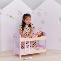 OLIVIA S LITTLE WORLD - Lit superposé en bois pour poupée de 45 cm le Monde  d 5ca43f403da