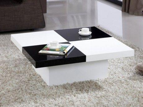 Marque Generique Table basse Calisto avec coffre - Mdf - Noir et blanc