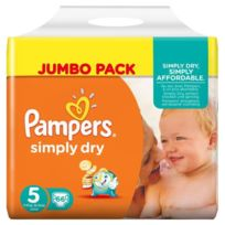 Pampers - Simply Dry Taille 5, 11 a 25kg 66 couches