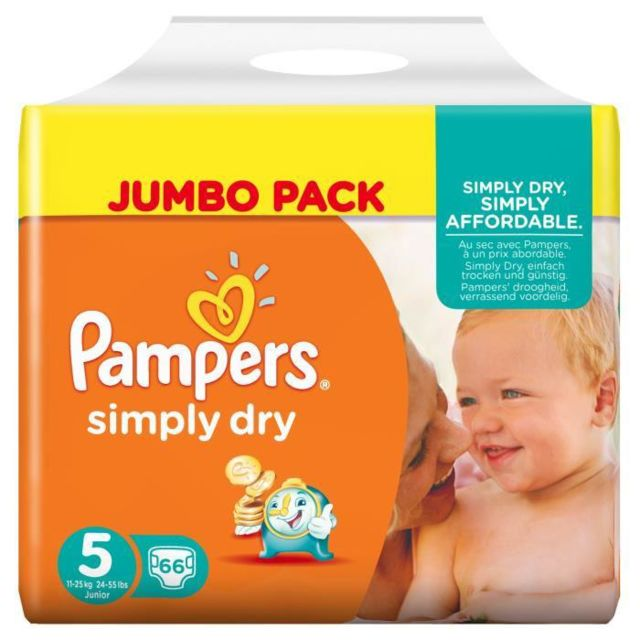 Pampers Simply Dry Taille 5 11 A 25kg 66 Couches Pas Cher Achat