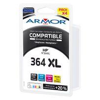 Pack cartouche Armor Compatible Hp Sm596EE, 4 couleurs pour imprimante jet d'encre