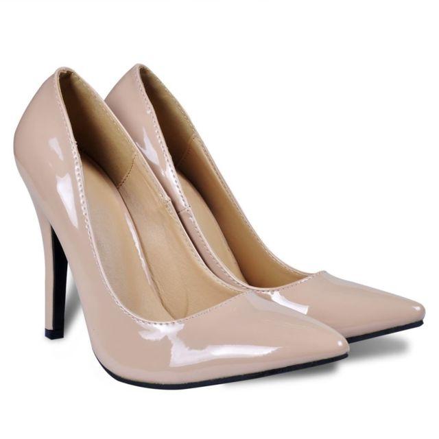 d48c28acd494c Vidaxl - Chaussures à talons hauts coloris chair pour femme taille 37 Beige  - pas cher Achat   Vente Entretien des chaussures - RueDuCommerce