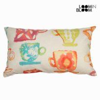 Marque Generique - Coussin rectangulaire avec housse à motifs tasses colorées 50 cm X 30 cm - Textile et Linge de Maison