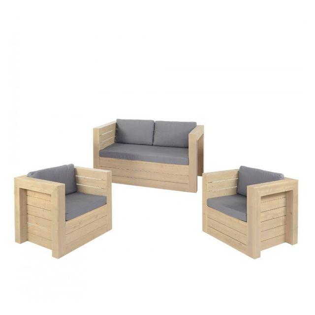 Jja Canapé + 2 fauteuils Malok